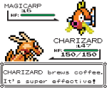 Charizard Brews Coffee